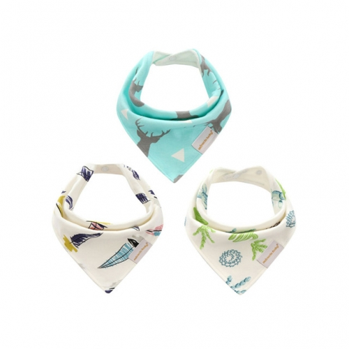 Baby Bandana Drool Bibs,3 Pack Baby Bibs for Boys Girls,Teething Bib Set,Super Soft and Absorbent