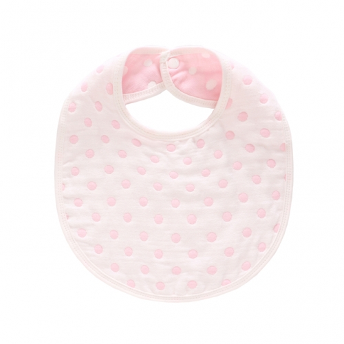 Baby Bibs, 6 Layer Burp Cloth with Printed Design,Feeding Drooling Teething Bibs with Snap(14.3''x10.4'')