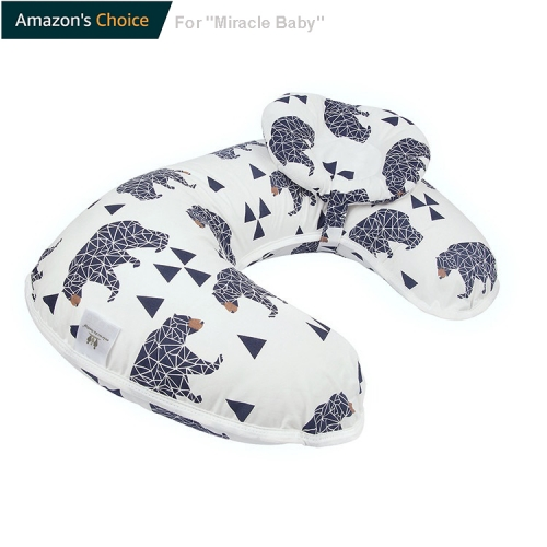Nursing Pillow, Breastfeeding Support Pillow, Weclomed With Amazon's Choice, U-Shaped 45°Angle, Washable, Multi Function Nursing Head Positioner